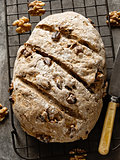 rustic artisan walnut bread