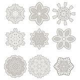 Round Geometric Ornaments