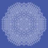 White Mandala Isolated. Round Ornament