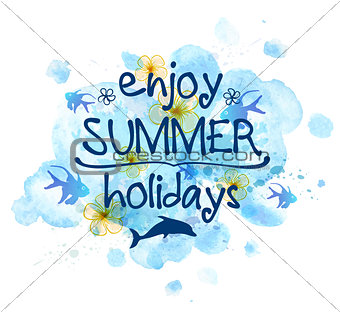 Blue abstract summer background