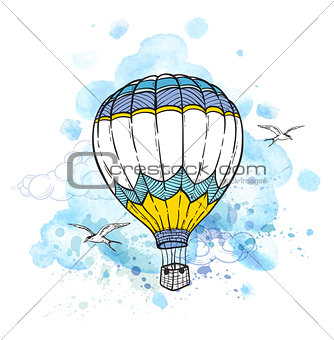 Abstract background with air balloon