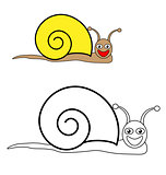 Color by example snail