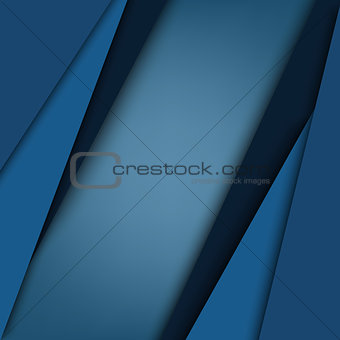 Abstract blue triangular stripes background