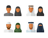 Arabic man and woman set