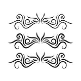Vector hand drawn ornamental dividers