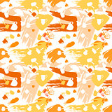 Color spots coffee seamless pattern