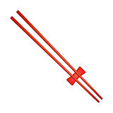 Wooden chopsticks in red design