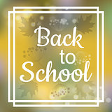 Back to School card design