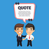 Quote Speech Banner with Trainee