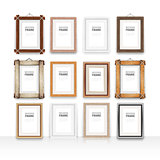 Wooden Frame on a Glossy Surface