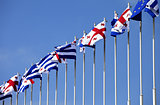 Flags of Georgia, Adjara and European Union