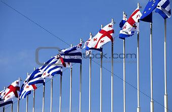 Flags of Georgia, Adjara and European Union