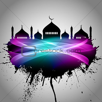 Abstract grunge Eid Mubarak background