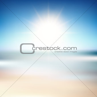 Beach blur background