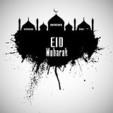 Grunge Eid mubarak background 0606