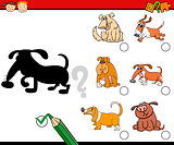 shadows preschool activity task