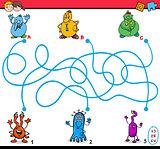 maze puzzle activity for kids