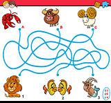 maze activity for children