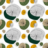 Water Lily seamless pattern