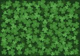 background with green clovers