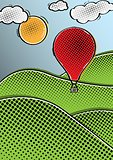 comic hot air balloon