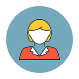 Businesswoman avatar icon