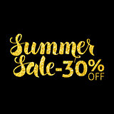 Gold Summer Sale 30 Off Lettering Black