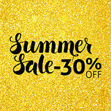 Summer Sale 30 Off Lettering Gold Glitter