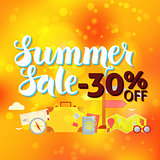 Summer Sale 30 Off Lettering Orange Blur