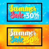 Summer Sale Horizontal Web Banners Frame