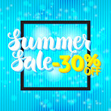 Summer Sale Lettering Blue Abstract