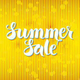 Summer Sale Lettering Yellow Abstract