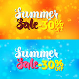 Summer Sale Web Banners Abstract Blur