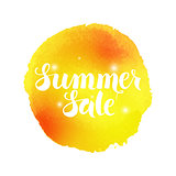 Summer Sale Vector Watercolor Concept