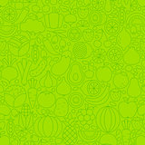 Thin Line Green Eat Healthy Tile Pattern