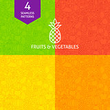 Thin Line Fruit Vegetable Pattern Set