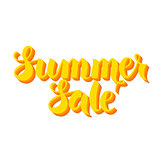 Yellow Summer Sale Lettering over White
