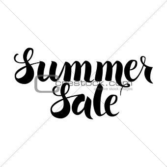 Black Summer Sale Lettering over White
