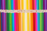 Color pencils rainbow arrangement
