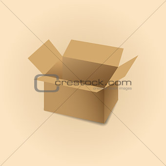 Cardboard box vector illustration.
