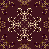 Seamless background with ornaments, vector