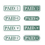 A set of stamps is paid, vector illustration.