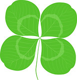 Quatrefoil leaf clover sign icon. Good Luck or Saint patrick day symbol. Ecology image concept