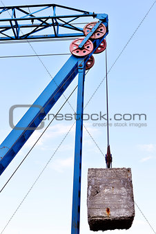 Counterweight on the cable car