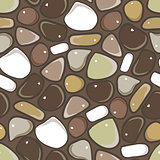 Seamless Pattern - Pebble cobblestone background