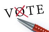 red ballpen vote