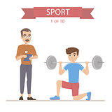 Sport Fitness characters