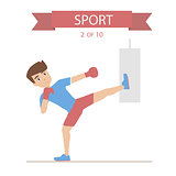 Sport Fitness character