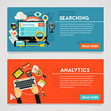Searching and Analytics Concept