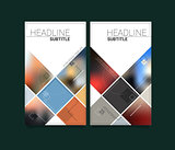 Abstract vector blurred material design brochure templates